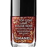 Chanel Le Topcoat Lamé Rouge Noir Gold Sparkle Nail Coat