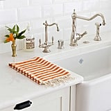 Striped Hand Towel in Orange ($32)
