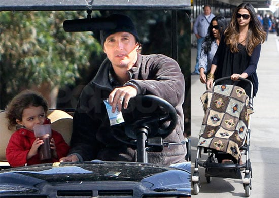 Photos of Levi McConaughey With Matthew McConaughey in LA; Camila Alves at LAX With Vida McConaughey