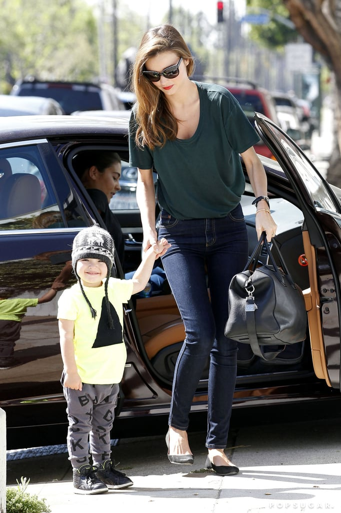 Miranda Kerr and Flynn Bloom were out and about in LA on Thursday.