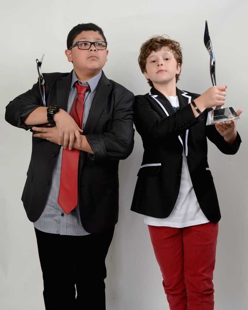 Nolan Gould and Rico Rodriguez got silly bad stage with their awards.