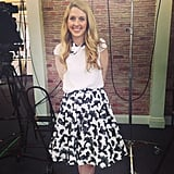 We couldn't get over how adorable POPSUGAR Live! anchor Allie Merriam looked in her Alice + Olivia outfit.