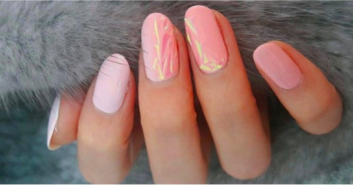 Glass Nail Art | POPSUGAR Beauty