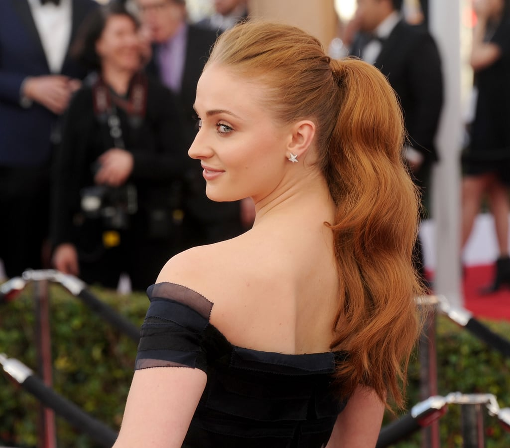 Sophie Turner's Hollywood Wave Ponytail, 2016