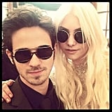 It's a family reunion! Kelly Rutherford shared this picture of Connor Paolo and Taylor Momsen while shooting Gossip Girl. Source: Twitter user KellyRutherford