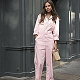 Summer workwear just got perfectly pink thanks to a pastel shirt style with long sleeves.