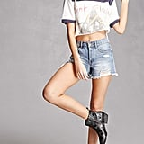 Forever 21 Y.R.U. Reflective Star Boots