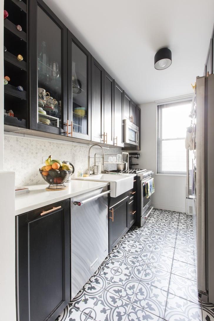 Glass Cabinet Doors | Ikea Small Kitchen Ideas | POPSUGAR ...