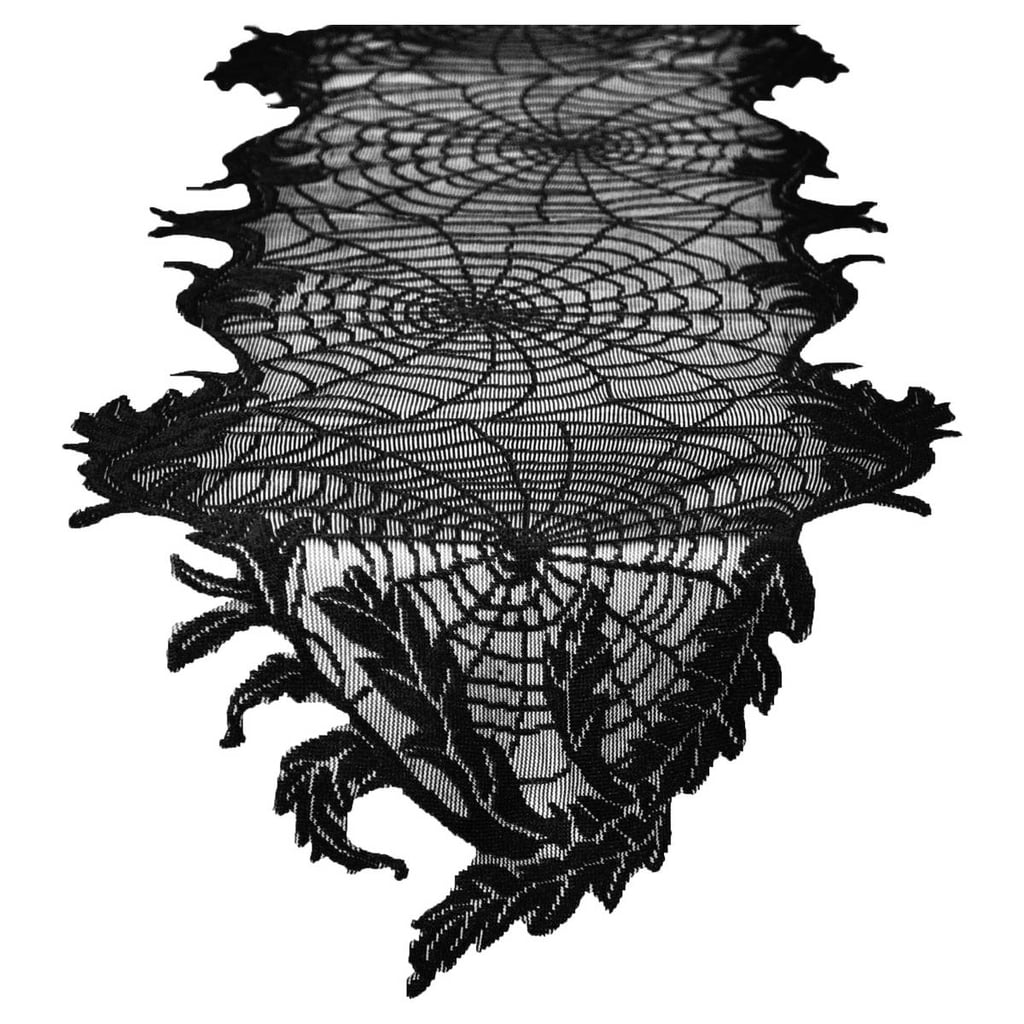 Hyde and Eek Boutique Halloween Spider Web Lace Table Runner