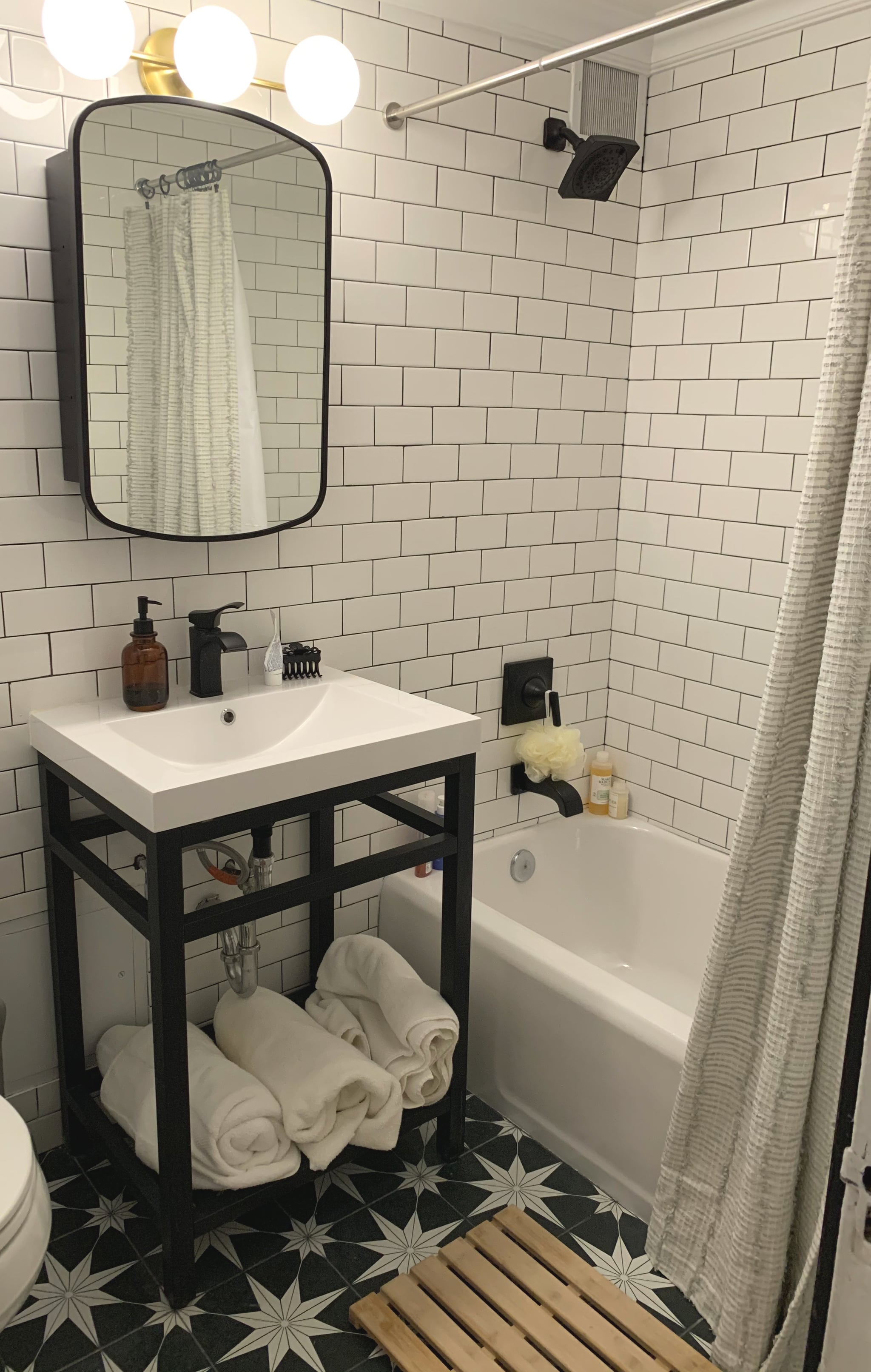 Bathroom We Totally Redecorated Our Brooklyn Apartment With These 35 Unique Pieces Popsugar Home Photo 31
