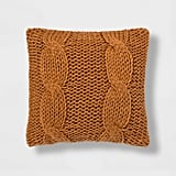 Chunky Cable-Knit Throw Pillow