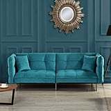 Divano Roma Furniture Modern Plush Splitback Sleeper Futon