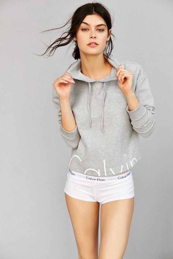 Calvin Klein Cropped Hoodie Sweatshirt