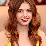 As if the color wasn't hot enough, the texture and volume in Hannah Murray's mane gives her look serious sex appeal.