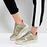 Nike Force 1 '07 Trainers in Pearl Dust Olive