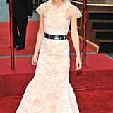 Keira Knightley lit up the carpet in an ivory gown at the Anna Karenina premiere.