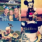 """He shared a collage of the family's Disneyland day in September 2015, writing, """"100 degrees wasn't going to spoil our special day at the happiest (hottest?) place on earth. Dekker's first time seeing Mickey Mouse and a place we will be visiting for years to come."""""""