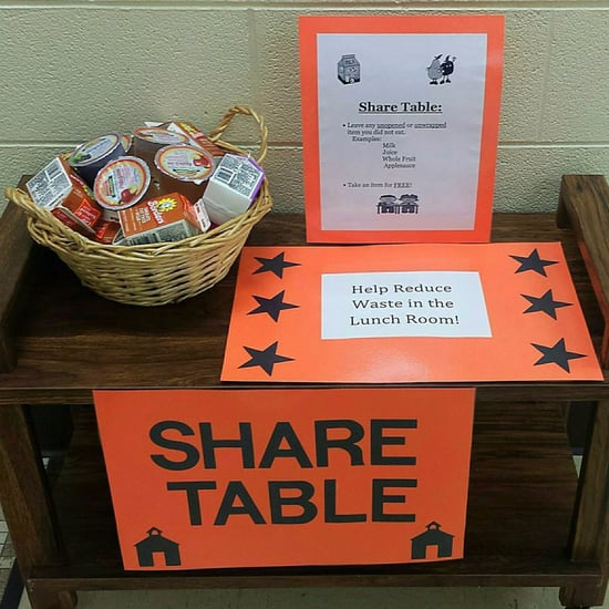 School Share Tables For Leftover Food