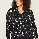 Old Navy Printed Split-Neck Plus-Size Blouse