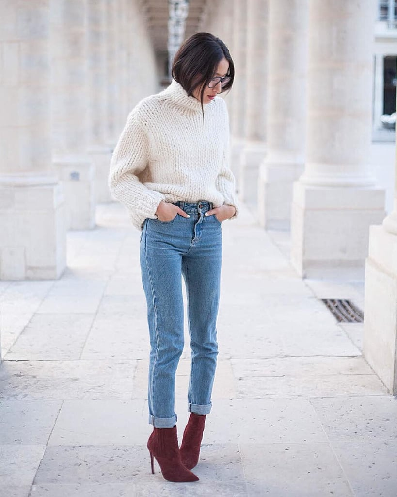 Tucked Into High-Waisted Jeans