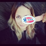 Nicole Richie had fun with her voting sticker after left the polls. Source: Instagram user nicolerichie