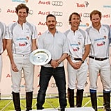 Tom then posed with the 2016 Team Audi Ultra members, which included Prince William, Luke Tomlinson, Mark Tomlinson, Prince Harry, and William Melville-Smith.