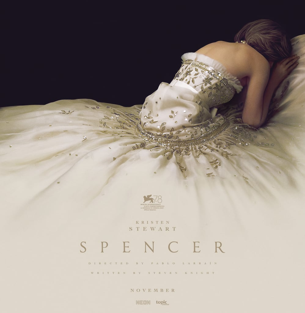See Kristen Stewart's White Gown on the Spencer Movie Poster