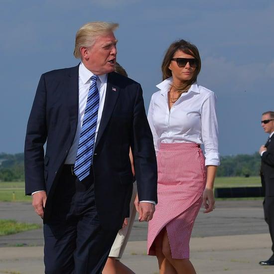 Melania Trump Gingham Altuzarra Skirt