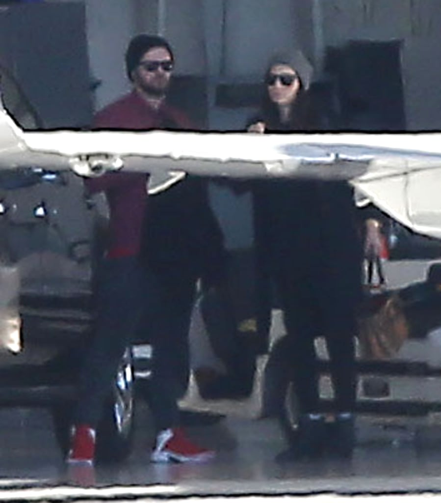 "Justin Timberlake and Jessica Biel hopped on a private jet in LA with some of their family members on Sunday. Both stars sported sunglasses and beanies for their travel day, just a few days after Justin showed off his baking skills while wearing an apron. He posted a picture of himself baking on Christmas Day, writing, ""Just so y'all know who was doing the baking today . . . Yeah, buddy! Your boy got it in!"" For his part, Justin is set to wrap up his tour in Las Vegas this week, with concerts on both New Year's Day and Jan. 2, so it's possible that the couple is heading to Nevada a few days early. Two weeks ago, Jessica stepped out for Justin's show, where fans snapped pictures of her reported baby bump. See pictures from the pair's travel day; then find out why everyone's freaking out about a possible baby Timberlake and watch Justin's recent duet with Garth Brooks!"