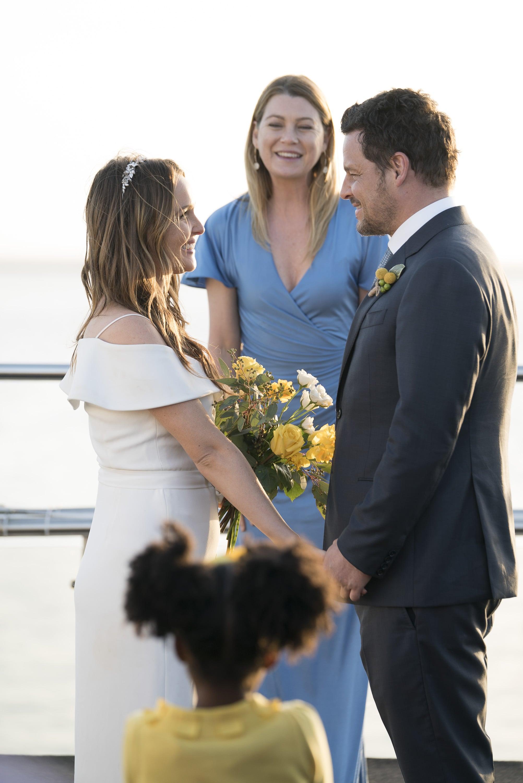 Alex and Jo's wedding on Grey's Anatomy