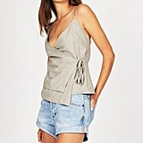 Alice in the Eve Lily Linen Wrap Cami, $59.95