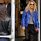 Jay-Z and Rita Ora out in SoHo.