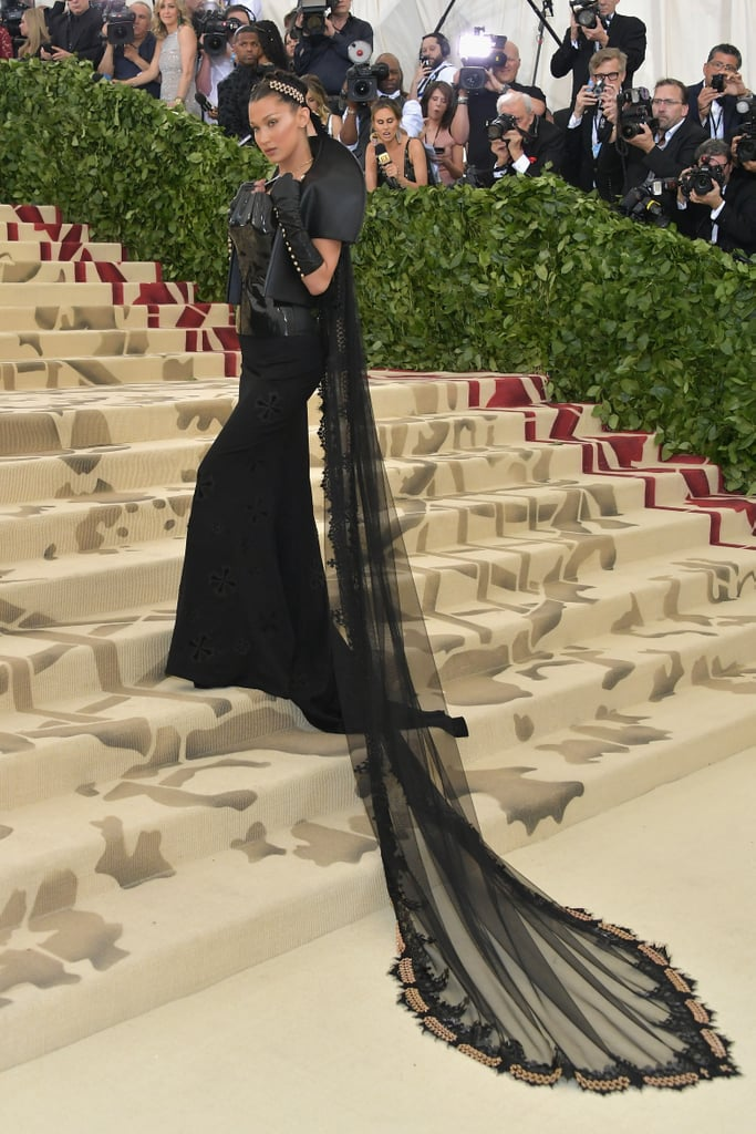 Bella Hadid's Chromes Heart Met Gala Dress 2018