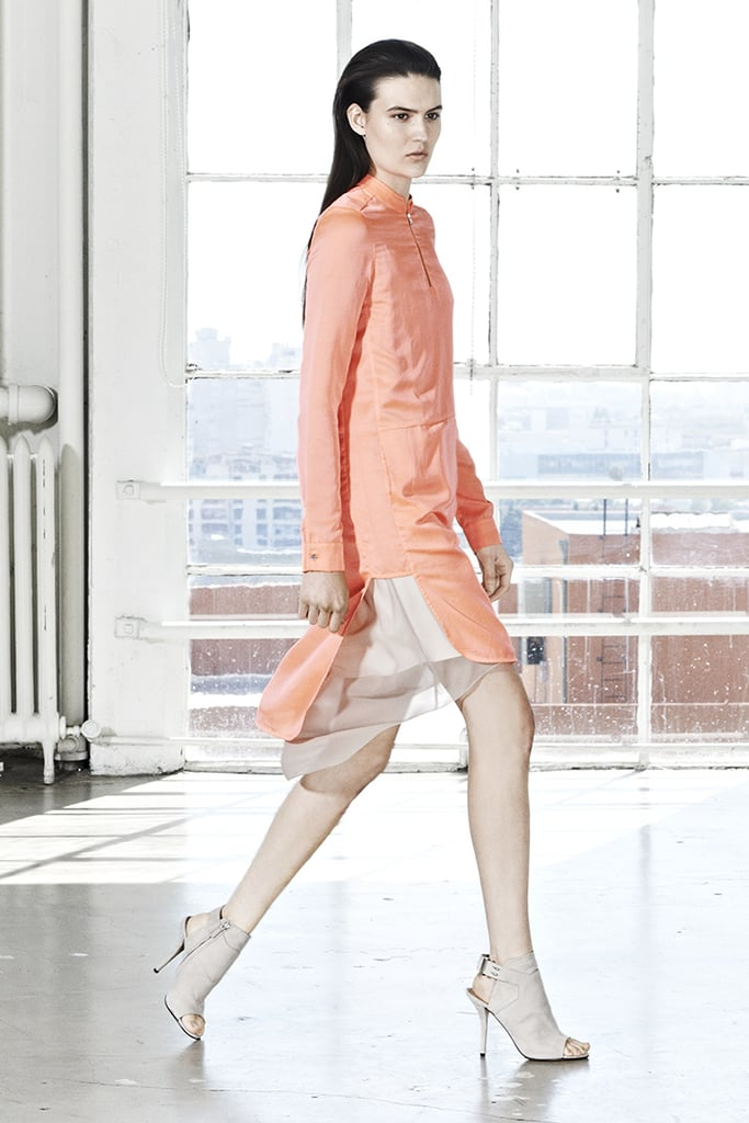 This tangerine dress is girlie in color and sporty in style. Quite a mix, no?