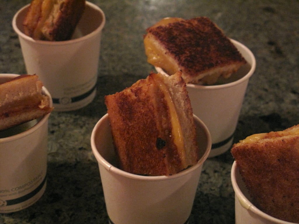 Grilled Cheese Bites With Bisque