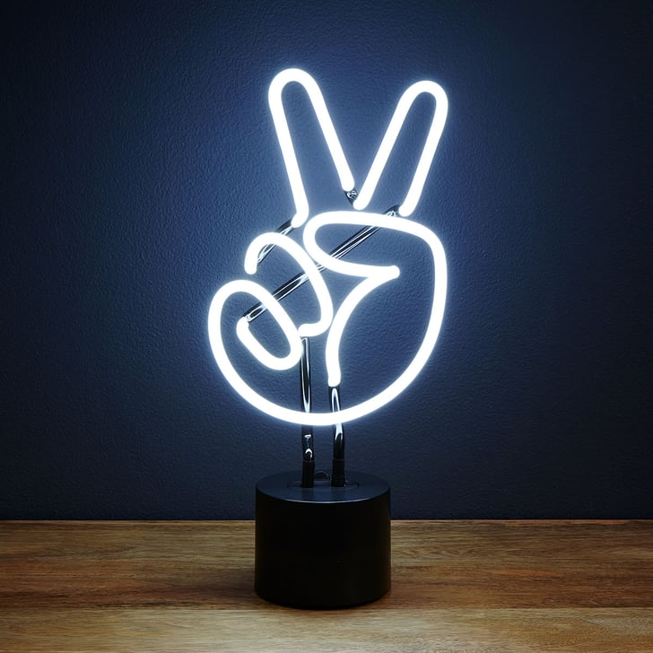 Neon Peace Sign Light Gifts For Teens Popsugar Family