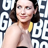 Caitriona Balfe's Moschino Dress at the Golden Globes 2019