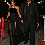 At a party to celebrate her marriage, Cheryl chose a dramatic gown by British couturiers Ralph & Russo.