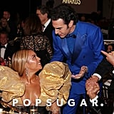Beyoncé and Sacha Baron Cohen at the 2020 Golden Globes