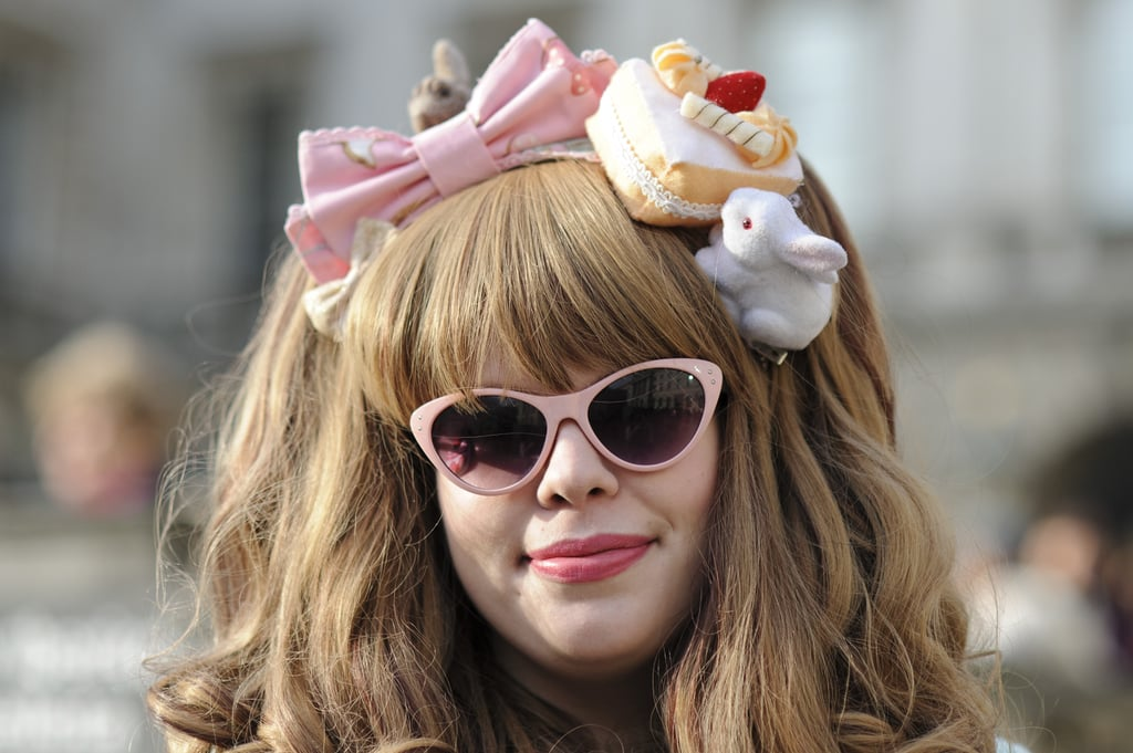 Who says femininity has to stop with your lipstick? Tasty cakes and bunnies made for a fabulous fascinator.