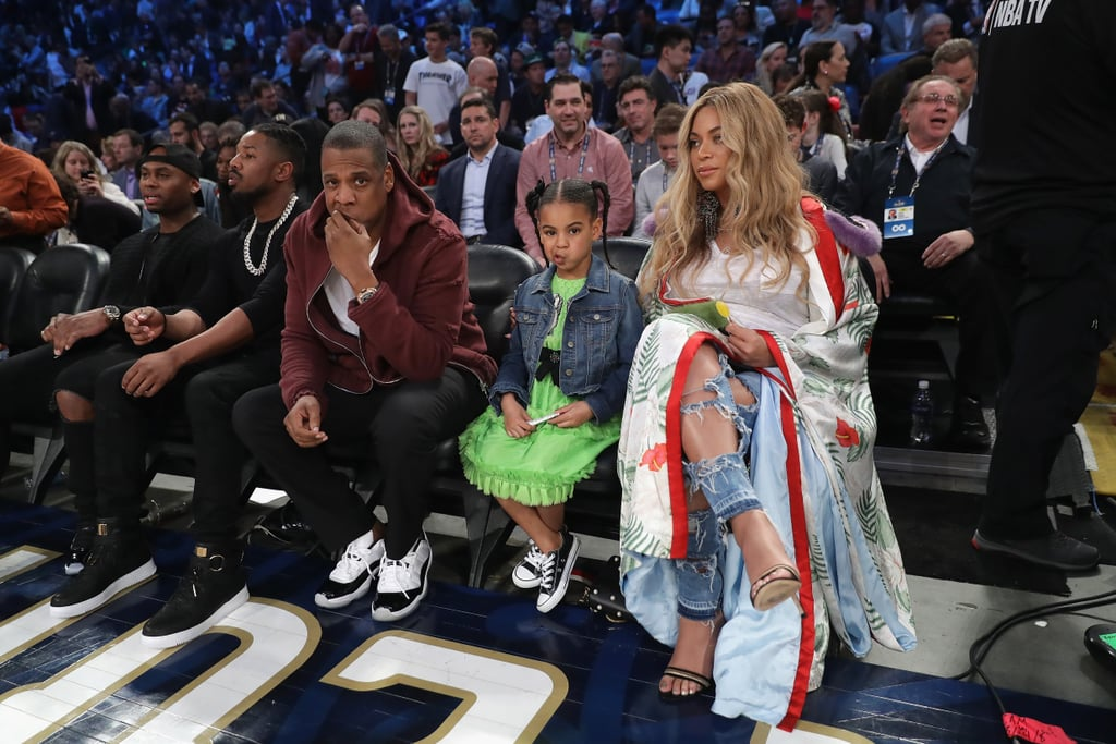 Beyonce With Jay Z And Blue Ivy At Nba All Star Game 2017