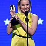 كريستين بيل في حفل توزيع جوائز اختيار النقاد لعام 2020