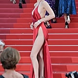 Bella Hadid Wearing a Red Alexandre Vauthier Dress at Cannes in 2016