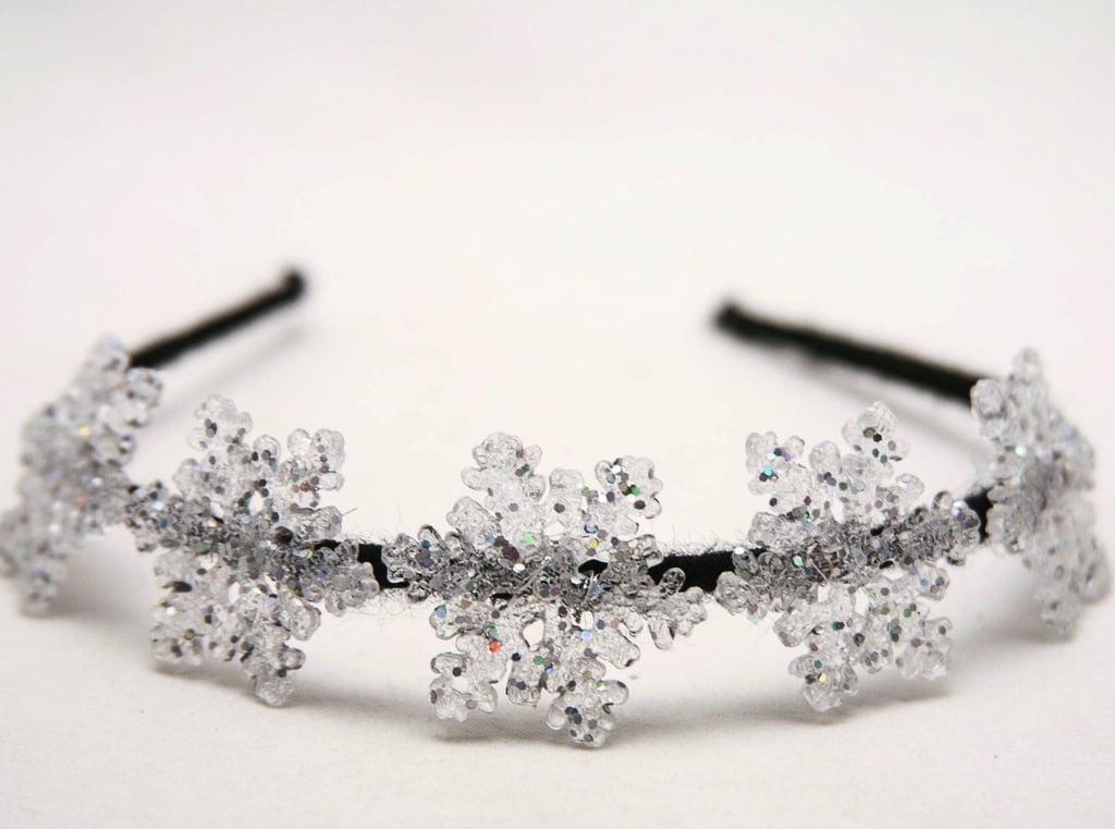 Add some snowflakes to your hair by way of this snowflake headband ($24).