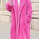 Ebossy Faux Fur Long Coat