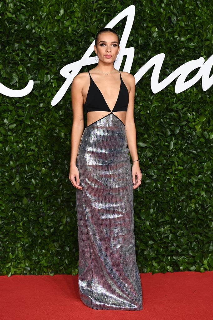 Hana Cross at the British Fashion Awards 2019
