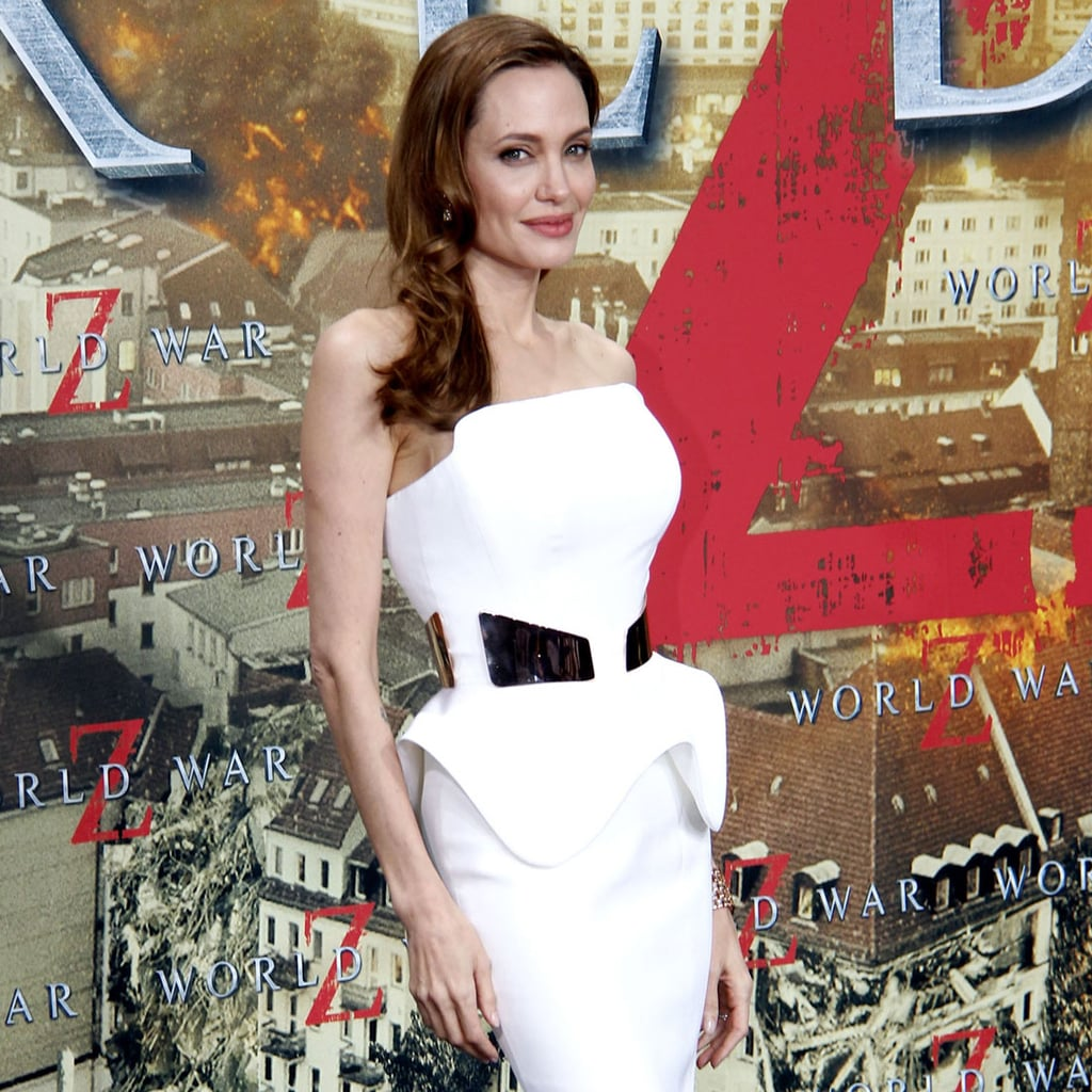 See Angelina Jolie in White Ralph & Russo for World War Z