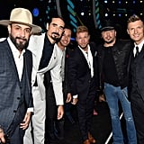 AJ McLean, Kevin Richardson, Howie D., Brian Littrell, Jason Aldean, and Nick Carter