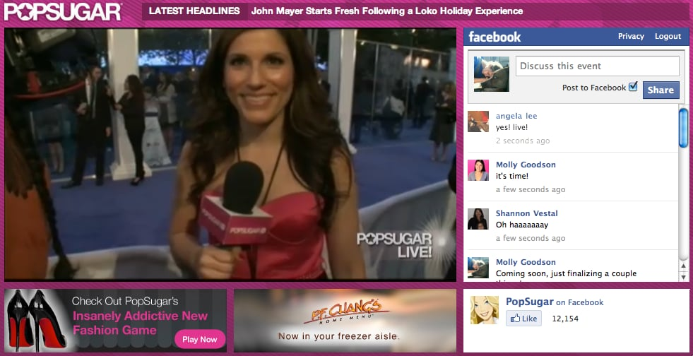 2011 People's Choice Awards Red Carpet and Backstage Live Stream
