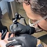 "Demi Lovato's ""Me"" Tattoo"